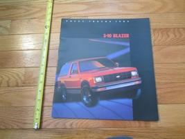 Chevrolet S 10 Blazer 1985 Chevy Truck Car auto Dealer showroom Sales Br... - $9.99