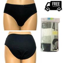 4 Pack Ladies Briefs, 100% Cotton Bikini Full Comfort Fit Underwear, Size S - $9.99
