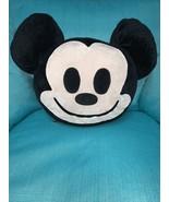 Disney MICKEY MOUSE FACE HEAD Emoji PILLOW Plush Stuffed Character EARS ... - $19.79