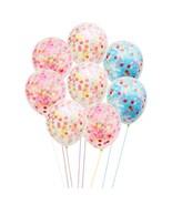 "A Pack of 55 Balloons contains 12"" Confetti Balloons 10, Assorted Colors... - $10.88"