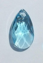 Swarovski Pear crystal pendant style 6106 Aquamarine 16mm 22mm 28mm blue - $3.95+
