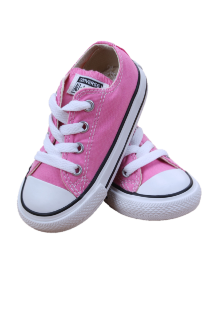 Converse All Star Chuck OX 7J238 Canvas Pink Kids Baby Toddler Shoes image 4