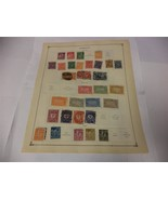 58 Vintage Official Germany Postage Stamps 1921-1923 Lot On Page Make an... - $13.14