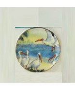 DOLLHOUSE Plate w Pelicans Lg Round CDD538 By Barb Wall Art Miniature - $5.18