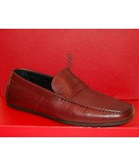 Hugo Boss Men's Dark Red Loafer Leather Sole Real Rubber Shoes Sz EU 45 ... - $177.21