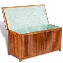 vidaXL Acacia Wood Outdoor Storage Box Patio Garden Pool Lawn Chest Cont... - £99.72 GBP