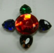 Multi colored rhinestones in brooch - $9.90