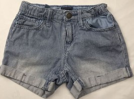 Gap Kids Sz 5 Girls Shorts Stripe White Blue Vintage  - $14.84