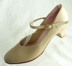 Capezio  TeleTone Tan Leather Buckle The Dance Maker Women's  7N Tap Shoes - $18.37
