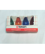 NOS 4-C-7 1/2 VTG Christmas Replacement Outdoor Clear Color XMAS Light B... - $9.88