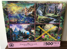 Thomas Kinkade Disney Parks Princesses 3-in-1 500 Piece Jigsaw Puzzle Ariel H02 - $25.83