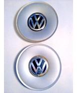 2 VW VOLSKWAGON CENTER CAPJETTA GOLF PASSAT GERMANY PA 66-M30 EMBLEM AI ... - $17.95