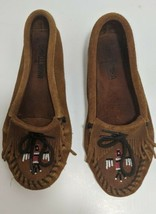 Size 6 Womens MINNETONKA MOCCASIN THUNDERBIRD Beaded Loafer Shoes Vintag... - $24.74