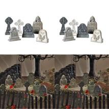 Halloween Village Accessory Miniature Tombstones Figurine For Indoor Dec... - ₨817.94 INR