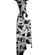 Mens necktie dramatic black and white silkscreen print, ltd edition love... - $19.50