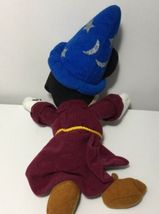 "Disney Fantasia Sorcerer Mickey Plush 9"" Stuffed Animal Bean Bag Toy Wizard image 4"