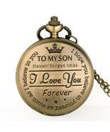 Son Watch My Pocket Chain Quartz Love Gift I You Pendant Forever Analog ... - $9.00