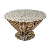 """Driftwood Coffee Table Base D29""""x18"""" - 0645 - $325.62 CAD"""