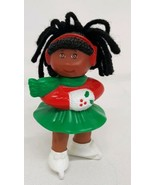 Cabbage Patch Kids Ice Figure Skating Christmas Holiday Black Hair Vtg 9... - $12.86