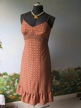 Ann Taylor Loft Women Orange Floral Dress Size 6 NWT - $49.49