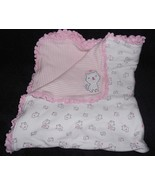 Carters Just One You Baby Blanket Cats Kittens Kitty White Pink Stripe R... - $24.63