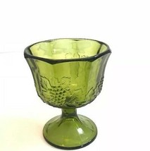 Harvest Carnival Water Goblet Colony Green Grapes 1974-80's Vintage - $29.10