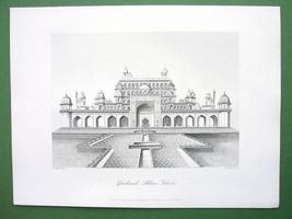 INDIA Tomb of Akhbar Shah at Secundra - Antique Print Engraving - $16.20