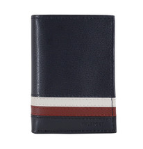 Tommy Hilfiger Men's Leather Wallet RFID Protection Trifold Red Navy 31HP110034 image 2