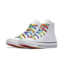 Converse Mens CTAS Hi Pride Core Canvas 157375C White/Multi/Black Size 1... - $69.99