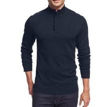 Alfani Mens Sweater Sz S Neo Navy Cotton Half-Zip Henley Pullover Sweater  - $36.26