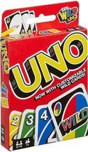 Mattel Uno Card Game with Customizable Wild Cards - $8.95