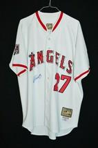 Vladimir Guerrero LA Angels MLB Mitchell Ness 2004 Embroidered Signed Je... - $123.63