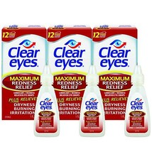 Clear Eyes Maximum Redness Relief Eye Drops | Relieves Drying, Burning &... - $18.36