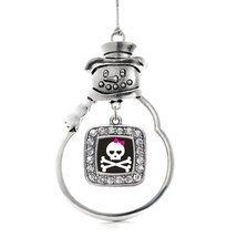 Inspired Silver Cute Skull And Crossbones Classic Snowman Holiday Christ... - $14.69