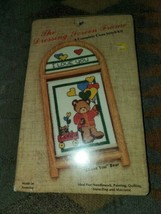 "The Dressing Screen Frame ""I Love You"" Bear  Cross Stitch Kit [New in Pa... - $12.82"