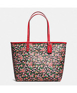 eversible City In Posey Cluster Floral 57669 PINK MULTI BRIGHT RED Tote Bag - $159.84 CAD