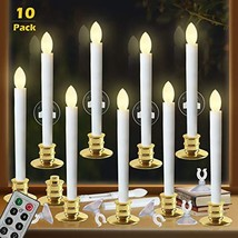 Window Candles with Remote Timers Battery Operated Flickering Flameless ... - $40.84