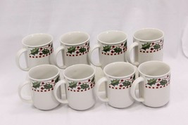 Oneida Winter Wonderland Xmas Mugs Set of 8 - $41.65
