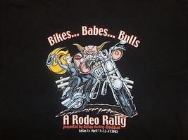 Harley Davidson Motorcycle 2003 biker babes bull Rodeo Rally Dallas t Sh... - $12.81