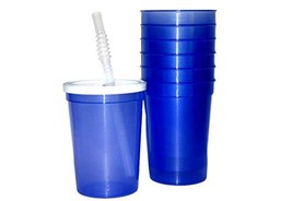 Talisman, Small Plastic Drinking Glasses, Lids and Straws, 12 Ounces, 12... - €17,53 EUR