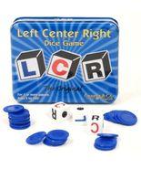 LCR Left Center Right Dice Game w/ Storage Blue Tin Original Family Fun  - $16.99