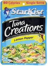 Starkist Tuna Creations, Lemon Pepper, Single Serve 2.6-Ounce Pouch Pack of 5