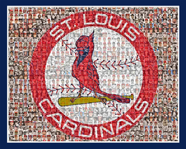 St.Louis Cardinals Mosaic Print Art designed using the Greatest Cardnial... - $42.00+