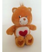 "CARE BEARS 20th Anniversary orange TENDER HEART BEAR W/ RED HEART 13"" pl... - $14.01"