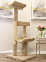 PRESTIGE CAT SOLID WOOD DOUBLE SCRATCHING POST TOWER-*FREE SHIPPING IN U... - £146.88 GBP
