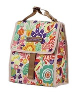 Lily Bloom Foldover Insulated Lunch Box / Portable Cooler Bag for Women (Tulips  - £14.39 GBP