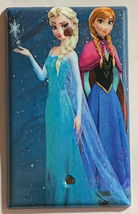 Frozen Elsa with Anna Light Switch Duplex Outlet Wall Cover Plate Home decor image 4