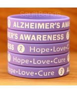 Set of Alzheimer's Awareness Wristbands - Lot of Debossed Silicone Brace... - £3.59 GBP+