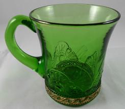 """Antique """"ADA 1915""""  GREEN PATTERN Glass Souvenir MUG     G34 - $9.89"""