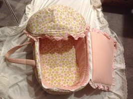 NEW Stephan Baby Pink Yellow White Baby Doll Carrier